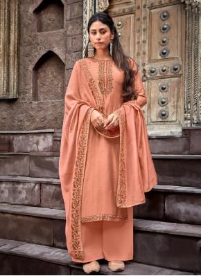 Sightly Peach Designer Palazzo Salwar Kameez