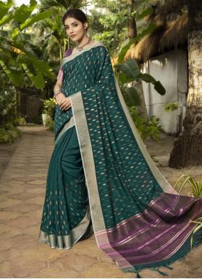 Sightly Rama Traditional Designer Saree