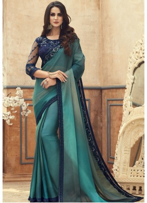 Sightly Turquoise Saree