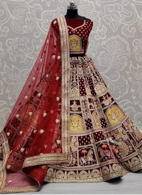 Sightly Velvet Lehenga Choli