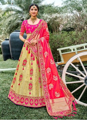 Silk Bollywood Lehenga Choli in Cream