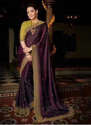 Silk Bollywood Saree in Wine