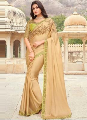 Silk Classic Designer Saree in Beige