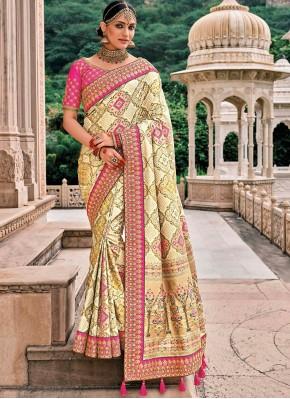 Silk Classic Saree in Cream