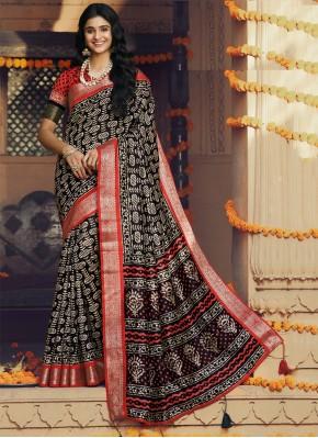 Silk Classic Saree in Multi Colour
