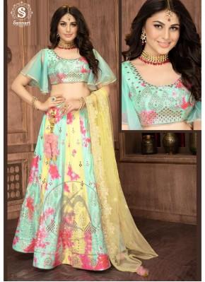 Silk Designer Readymade Lehngha Choli for Mehndi