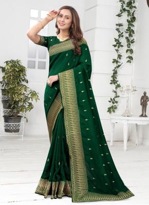 Silk Designer Saree in Green
