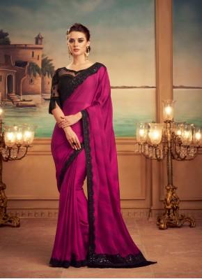 Silk Designer Saree in Magenta