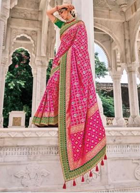 Silk Designer Saree in Pink