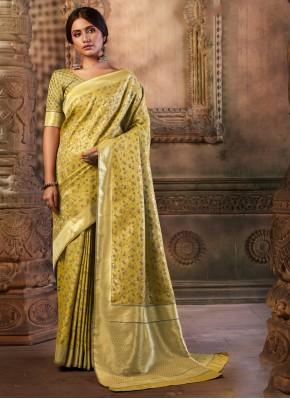 Silk Gold Contemporary Saree