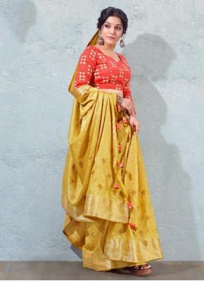 Silk Mustard Fancy Traditional Designer Saree