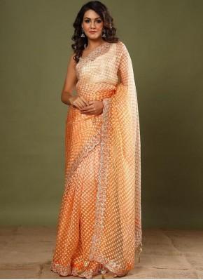 Silk Orange Classic Saree