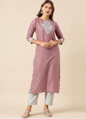 Silk Purple Fancy Designer Kurti