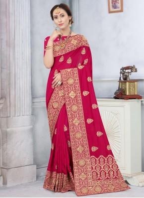 Silk Rani Stone Designer Traditional Saree