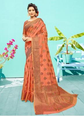 Silk Rust Traditional Saree