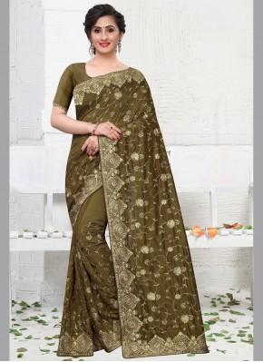 Silk Silk Saree in Green