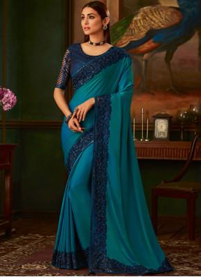 Silk Silk Saree in Navy Blue