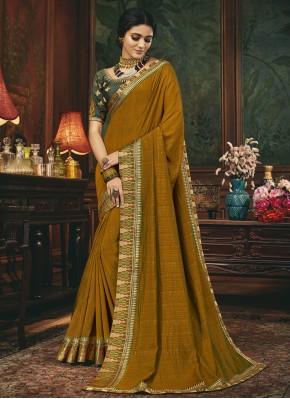 Silk Traditional Designer Saree in Mustard