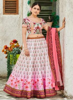 Silk Trendy Lehenga Choli in Multi Colour
