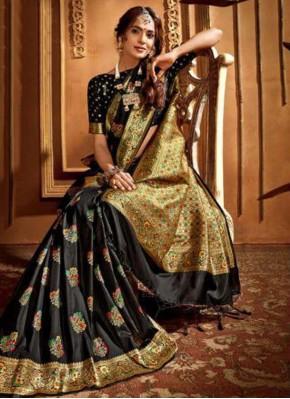 Silk Trendy Saree in Black