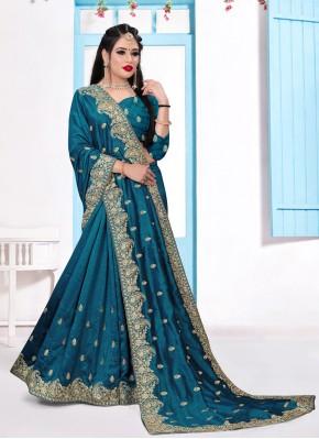 Silk Trendy Saree in Teal
