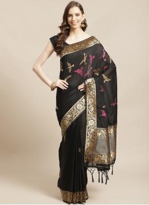 Silk Weaving Black Traditional Designer Saree