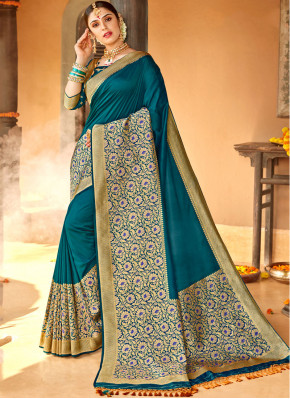 Silk Weaving Classic Saree in Blue