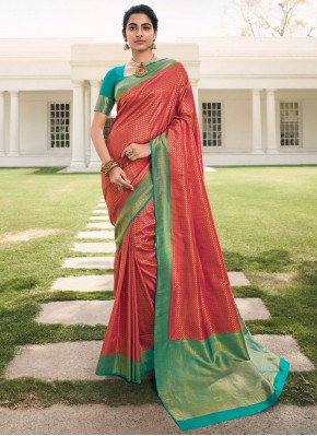 Silk Weaving Rani Designer Saree