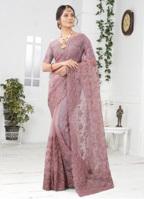 Simplistic Lavender Engagement Designer Saree
