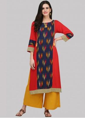 Simplistic Rayon Print Party Wear Kurti