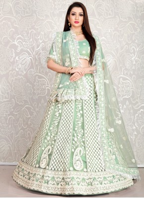 Snazzy Net Embroidered Lehenga Choli