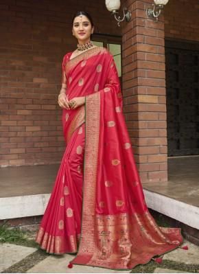 Snazzy Silk Ceremonial Traditional Designer Saree