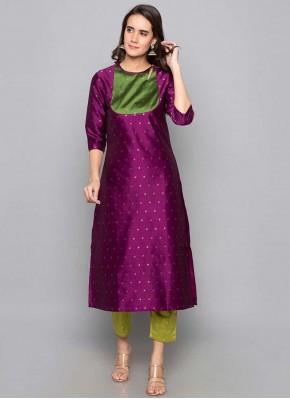 Sonorous Fancy Purple Art Silk Party Wear Kurti