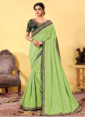 Sonorous Patch Border Silk Designer Traditional Saree