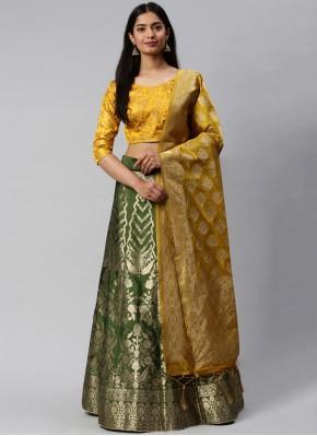 Sonorous Weaving Sangeet Lehenga Choli