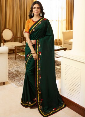 Sorcerous Silk Embroidered Classic Saree
