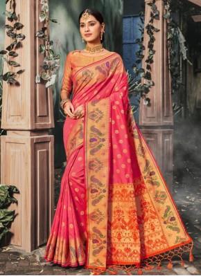 Sparkling Banarasi Silk Trendy Saree