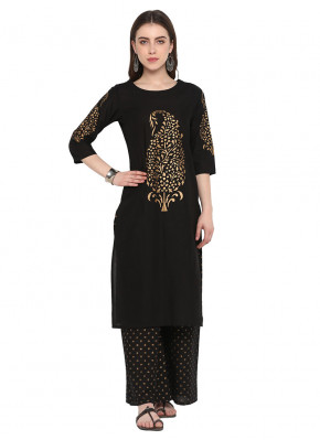 Sparkling Embroidered Cotton Kurta
