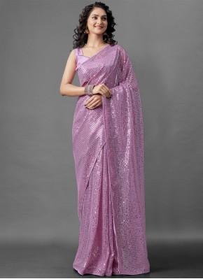 Sparkling Lavender Festival Designer Saree