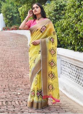 Sparkling Weaving Yellow Classic Saree