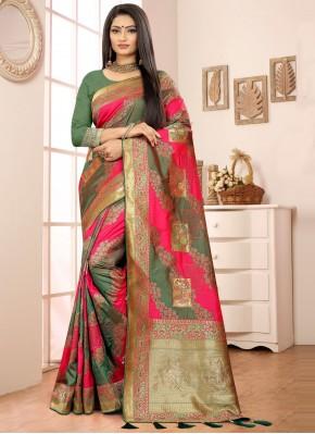 Specialised Banarasi Silk Sangeet Designer Traditional Saree