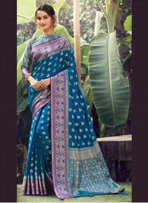 Specialised Blue Festival Designer Traditional Saree