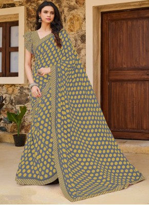 Specialised Multi Colour Print Traditional Saree