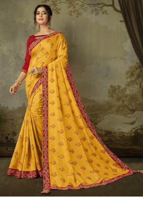 Specialised Silk Embroidered Trendy Saree