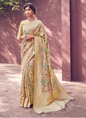 Specialised Woven Beige Designer Traditional Saree