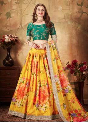Specialised Yellow Designer Lehenga Choli
