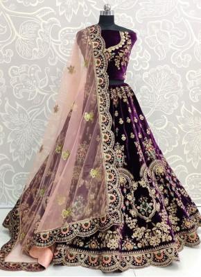 Specialised Zari Velvet Designer Lehenga Choli