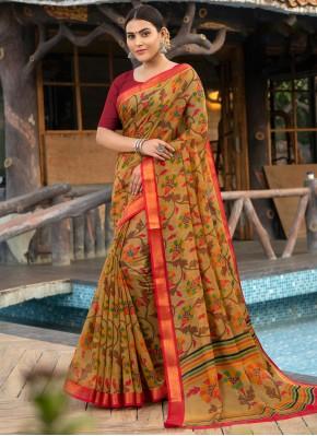 Spectacular Cotton Silk Trendy Saree