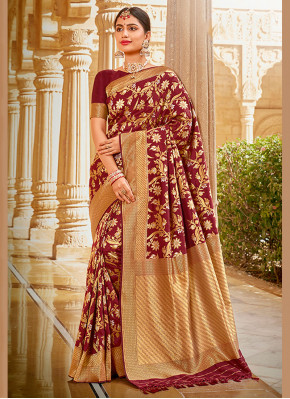Spellbinding Embroidered Ceremonial Traditional Saree