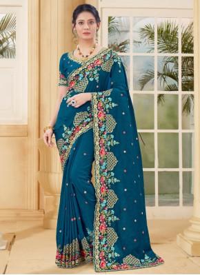Spellbinding Rama Traditional Designer Saree